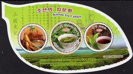 North Korea - 2018 - Korean Tea Culture - Mint Souvenir Sheet With Varnish - Corée Du Nord