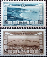 1928 Maroc Yt PA18, PA19 . Tanger .Casablanca   Neuf Trace Charnière - Neufs