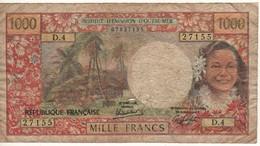 TAHITI   1000 Francs  P27c     ( Papeete ) Sign.  4 - Banconote