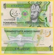 Turkmenistan 1 Manat P-36 2017 Commemorative UNC - Turkménistan