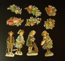 Découpis. Fleurs Et Personages - Découpis