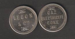Jeton De Nécessité Lebon Gaz Electricité Coke - Monétaires / De Nécessité