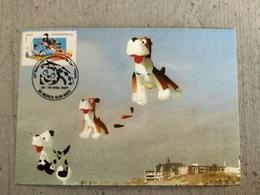 Carte Postale 23 Eme Rencontres Internationales De Cerfs-volants à Berck 2009, Chien, Kite - Jeux