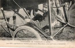 Expériences De Parachute à JUVISY - Jean ORS Expérimente Un Parachute Sous Un Deperdussin Piloté Par L'aviateur LEMOINE - Juvisy-sur-Orge