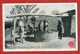 CPA ALGERIE - N°14 Un Moulin A Huile En Kabylie COLLECTION DES BISCUITS OLIBET - Altri