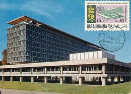 D36195 CARTE MAXIMUM CARD 1966 RAS AL KHAIMA - WHO HEADQUARTERS GENÈVE CP ORIGINAL - Organizzazioni