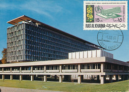 D36195 CARTE MAXIMUM CARD 1966 RAS AL KHAIMA - WHO HEADQUARTERS GENÈVE CP ORIGINAL - Vereine & Verbände