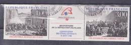 FRANCE 1988, MI 2674-75, BICENTENAURE DE LA REVOLUTION FRANCAISE - Usati