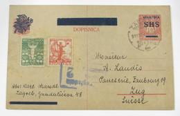 Yugoslavia 55/6+E/P De 10fi - Storia Postale