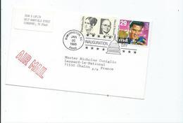 Lettre Inauguration Day 1993 De Kingsport Pour Chalon Sur Saone Timres YT N°1478,1514 Et 2130 - Event Covers