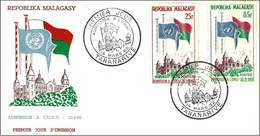 Madagascar 1962 - FDC - Admission To The UNO ( Mi 475/76 - YT 362/63 ) - Madagascar (1960-...)