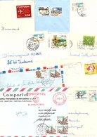 PORTUGAL MARCOPHILIE LOT DE LETTRES DIVERSES POIDS 37 GRAMMES - Timbres