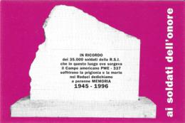 [MD2681] CPM - COLTANO (PISA) - 1° RADUNO NAZIONALE DEI REDUCI RSI DEI CAMPI DI PRIGIONIA - TIRATURA LIMITATA - NV - Cimiteri Militari