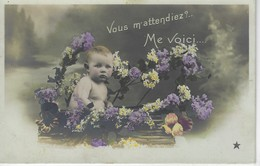 FAIRE PART DE NAISSANCE - Vous M'attendiez, Me Voici ..... ( Edition ETOILE ) - Naissance