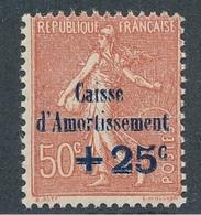 """CM-82: FRANCE: Lot """"CAISSE D'AMORTISSEMENT"""" Avec N°250** - Neufs"""