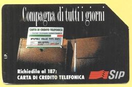Scheda Telefonica - ITALIA - ITALY - ITALIE - 30.06.94 - Compagna Di Tutti I Giorni, Carta Di Credito Telefonica - SIP 5 - Pubbliche Ordinarie