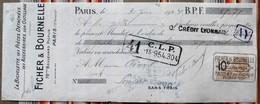 75 PARIS 12e La Bicyclette FICHER BOURNELLE Timbres Fiscaux,tampons Pour 51 Somsois - Agriculture