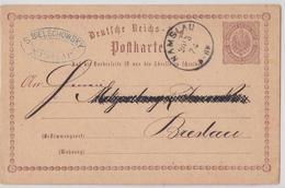 NAMYSLOW POLSKA S. BIELSCHOWSKY NAMSLAU DEUTSCHE POLEN POSTKARTE 1874 TO BRESLAU WROCLAW ENTIER POLOGNE POLAND POSTCARD - Lettres & Documents
