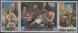San Marino 887-889 Dreierstreifen (kompl.Ausg.) Postfrisch 1967 Giovanni Francesco Barbieri - San Marino
