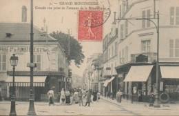 92 GRAND-MONTROUGE Grande Rue Prise De L'Avenue De La République - Montrouge