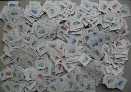 "België - 1000 Zegels/timbres Koning Boudewijn Type ""Velghe"" - Vrac (min 1000 Timbres)"