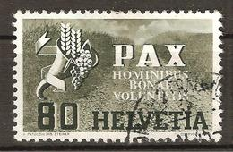 Zu 269 / Mi 454 / YT 412 PAX Obl. ZÜRICH 2 FRAUMÜNSTER 1945 SBK 60,- Voir Description - Suisse