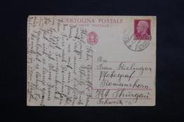 ITALIE - Entier Postal De Bolzano Pour La Suisse En 1938 - L 22375 - 1900-44 Vittorio Emanuele III