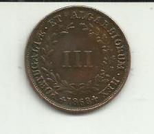 III Réis 1868 D. Luis I Portugal - Portugal