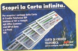 Scheda Telefonica - ITALIA - ITALY - ITALIE - 31.12.93 - Scopri La Carta Infinita, Carta Di Credito Telefonica - SIP 100 - Pubbliche Ordinarie