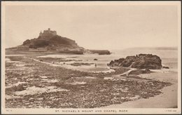 St Michael's Mount And Chapel Rock, Cornwall, 1953 - Tuck's Postcard - St Michael's Mount