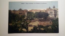 Algeria, Algérie - Oran - Place D'armes - Le Theatre Et La Mairie - 1942 - Tram [TM/Lpt100e] - Oran