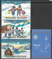 Greenland  1982-4  Christmas Seals  MNH - Grönland