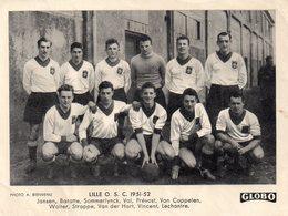 """CARTE """"GLOBO"""" De L'équipe 1ère De Football De LILLE 1951-52. - Lille"""