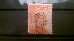FRANCOBOLLI STAMPS ITALIA ITALY REGNO 1916 USED  VITTORIO EMANUELE III SASSONE N° 107 - 1900-44 Vittorio Emanuele III