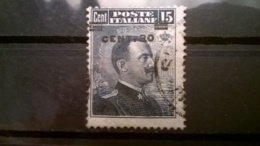 FRANCOBOLLI STAMPS ITALIA ITALY REGNO 1916 USED  VITTORIO EMANUELE III SOPRASTAMPATO SASSONE N° 106 - 1900-44 Vittorio Emanuele III