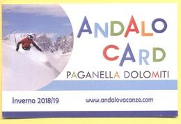 ANDALO CARD - Paganella Dolomiti - Inverno 2018/19 - Tessera Sconti Per Ingressi - Biglietti D'ingresso