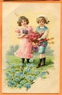 Man780, Relief, Enfants, Marin, Fleur, 7877, Circulée 1908 - Phantasie