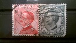 FRANCOBOLLI STAMPS ITALIA ITALY REGNO 1918 USED  VITTORIO EMANUELE III  SASSONE N° 108 111 - 1900-44 Vittorio Emanuele III