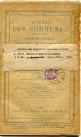 FRANCE JOURNAL DES COMMUNES AFFRANCHI AVEC LE N°108 DEPART PARIS ?-5-13 POUR LA FRANCE - 1900-29 Blanc