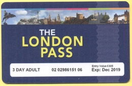 GB - Regno Unito - GREAT BRITAIN - 2019 - THE LONDON PASS - 3 DAY ADULT - Used - Biglietti D'ingresso