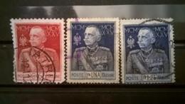 FRANCOBOLLI STAMPS ITALIA ITALY REGNO 1925 USED  SERIE COMPLETA GIUBILEO DEL RE - 1900-44 Vittorio Emanuele III