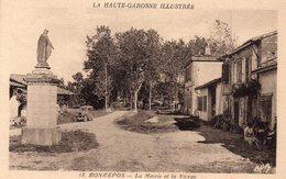 CPA De BONREPOS Sur AUSSONNELLE - La Mairie Et La Vierge. - Francia