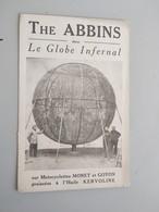 CARTOLINA PUBBLICITARIA THE ABBINS DANS LE GLOBE INFERNAL SUR MOTOCYCLETTES MONET ET GOYON GRAISSES A L'HUILE KERVOLINE - Publicité