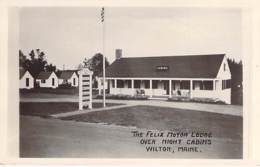 AMERIQUE DU NORD - USA ( ME Maine ) WILTON : The Felix Motor Lodge Over Night Cabins - CPSM Photo PF - North America - Etats-Unis