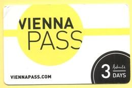 AUSTRIA - ÖSTERREICH - AUTRICHE - 2019 - VIENNA PASS - 3 DAY ADULT - Used - Biglietti D'ingresso
