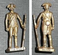 Rare Figurine Métal Kinder Vintage Soldat Guerre D'Indépendance USA 1780 N°1 - Figurines En Métal