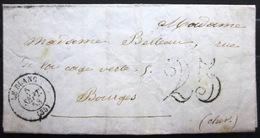 CACHET Type 15  - LE BLANC - INDRE - LAC - 1853 - 1849-1876: Klassik