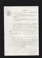 Acte 25 Sept 1869 - Jean Baptiste Desclefs, Md De Vins En Gros, Assurance Contre Incendie Le Monde, - Cachets Généralité