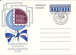 Finland Postcard FDC 6-5-1986 Filateliservice 50th Anniversary - Finland