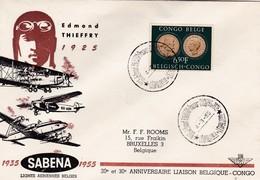 Lettre 20 E Et 30 E Anniversaire Liaison Belgique-Congo - Poste Aérienne